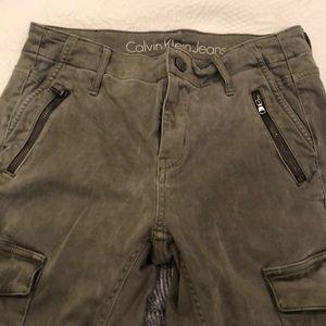 Calvin Klein army green cargo pants